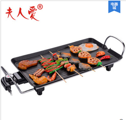 1300W power Korean style smokeless Electric grill pan Non-stick pan  household electric smokeless electric grill