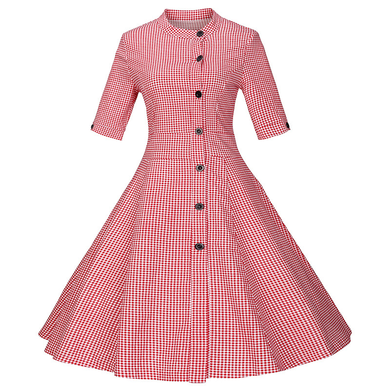 2016 marilyn monroe style women striped dress 50s 60s robe vintage button retro ball gown. Black Bedroom Furniture Sets. Home Design Ideas