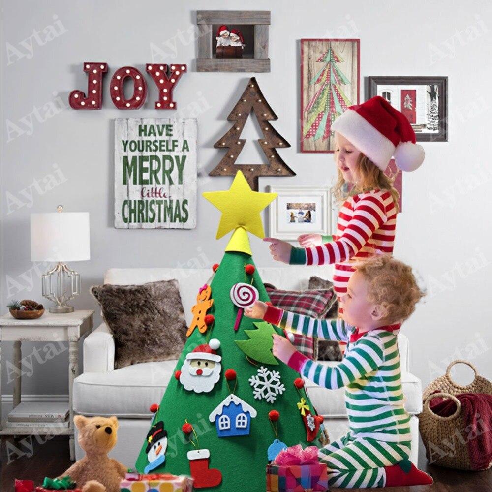 Albero Di Natale Fai Da Te Per Bambini.Ourwarm 3d Fai Da Te Feltro Albero Di Natale Bambini Regalo Di Nuovo Anno Giocattoli Piccolo Albero Di Natale Decorazioni Di Natale Per La Casa Nuovo