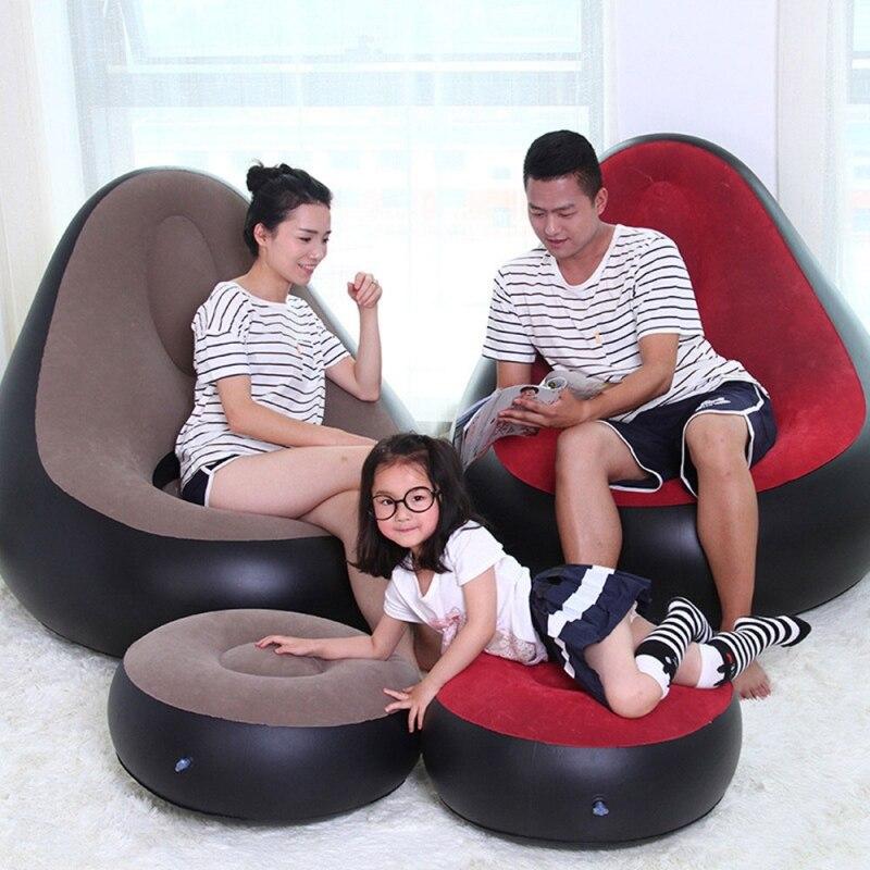 Doux paresseux canapé Pouf chaise chaise gonflable tabouret Pouf sac chaise longue canapé pour meubles de salon Pouf extérieur