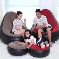 Soft Lazy Sofa Bean Bag Chair Inflatable Chair Stool Ottoman Bag Lounger Couch for Living Room Furniture Outdoor Pouf