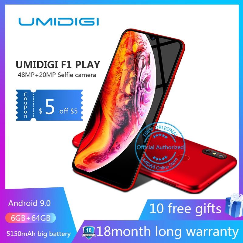 UMIDIGI F1 Play Android 9 0 48MP 8MP 16MP Cameras 5150mAh 6GB RAM 64GB ROM 6