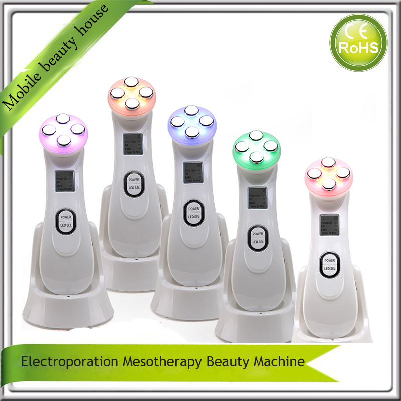Mini Handheld RF Radio Frequency Electroporation Mesotherapy Skin Warming Tightening Led Photonrejuvenation Beauty Devices