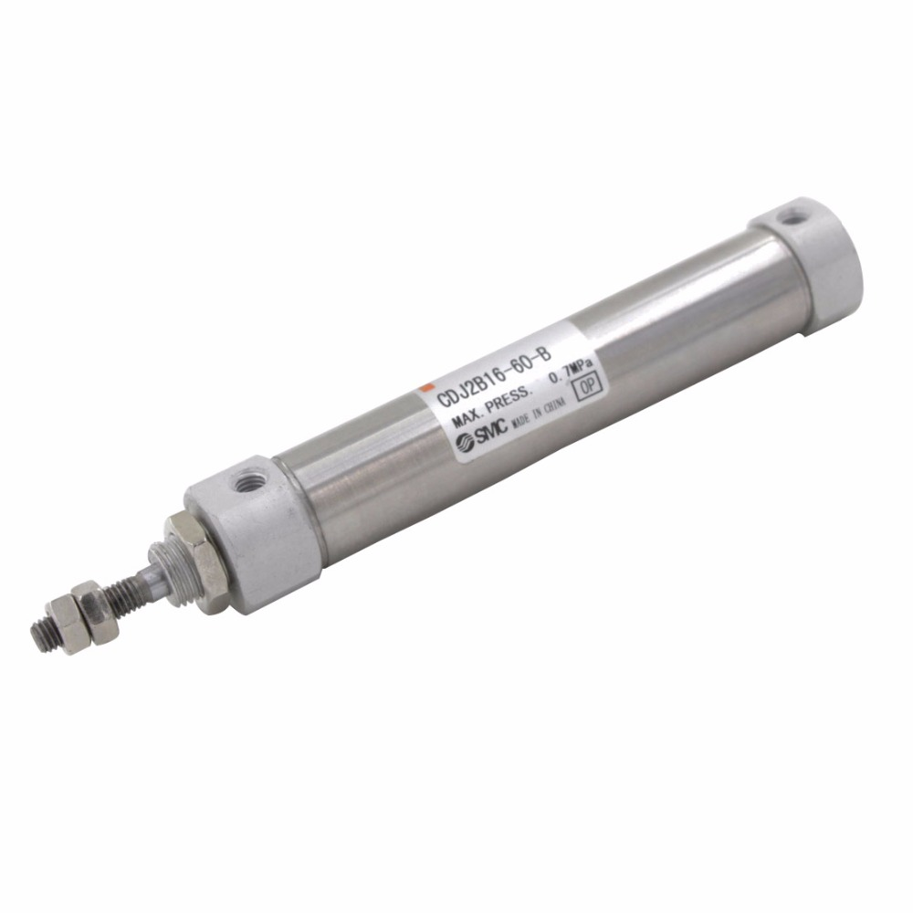 Aluminum Alloy Single Rod Double Action 16mm Bore 55/60/75/100/125/150mm Stroke CDJ2B Type Pneumatic Air Cylinder acq100 75 b type airtac type aluminum alloy thin cylinder all new acq100 75 b series 100mm bore 75mm stroke