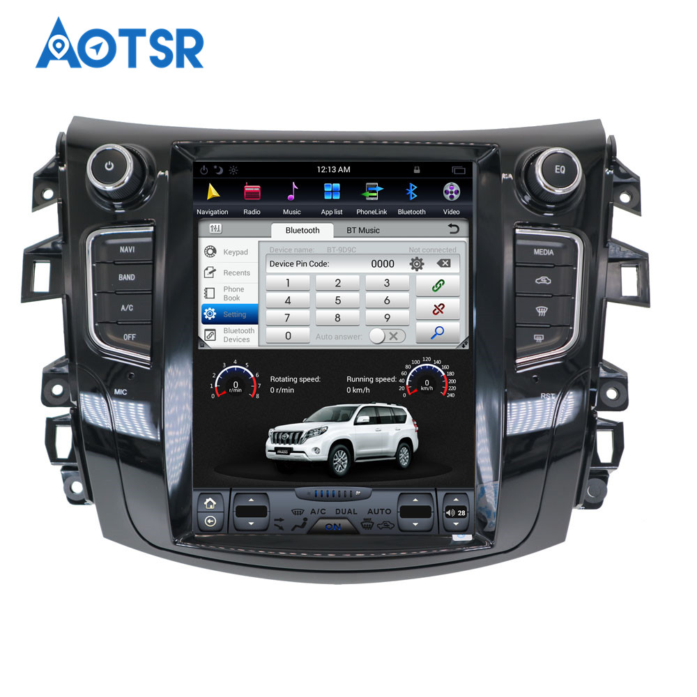 Discount Android Tesla style Car GPS Navigation no DVD Player For NISSAN NP300 Navara 2014+ multimedia tape radio recorder head unit FM 4