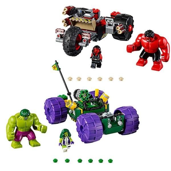 Bevle 10675 Bela Marvel Super Hero Hulk VS Red Hulk Team Vehicle Features Building Block Bricks Toys Gift For Children 76078