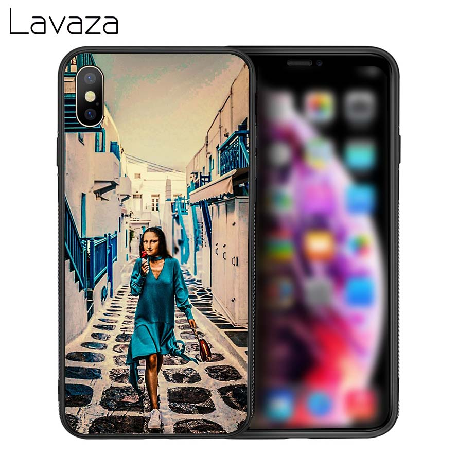 Lavaza Mona Lisa Art Soft Silicone Case Cover for Apple iPhone 6 6S 7 8 Plus 5 5S SE X XS 11 Pro MAX XR in Fitted Cases from Cellphones Telecommunications