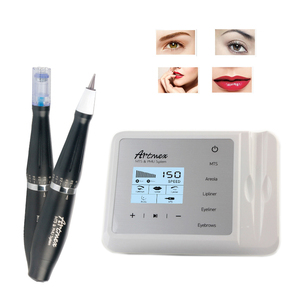 Image 2 - Artmex V9 Eye Brow Lip Rotary Pen Permanent Makeup Tattoo Machine MTS PMU System With V9 Tattoo Needle