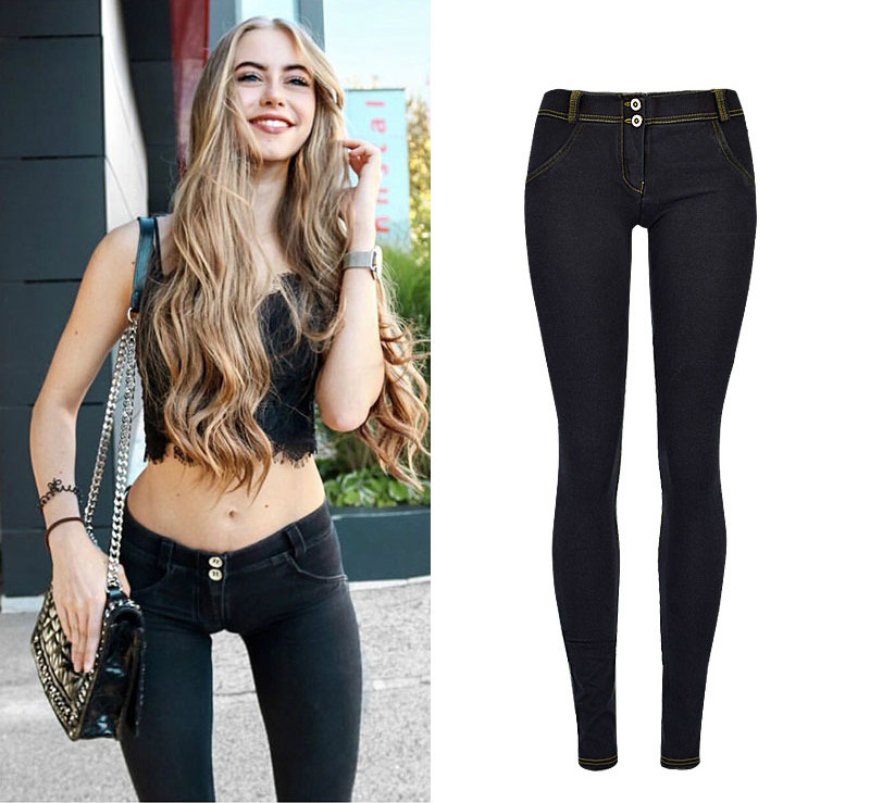 High Street Push Up black Denim Pants Mujer Low Waist Skinny Pencil Pants Femme Fashion Super Stretch Slim Soft Comfort Jeans 4