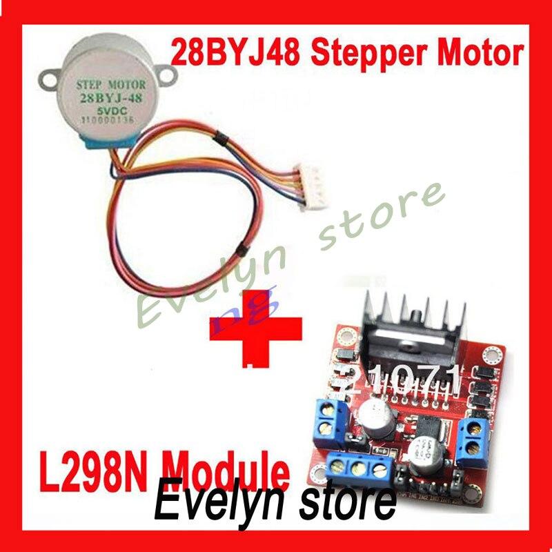 Stepper Motor Drive Module L298N Dual H Bridge DC+28BYJ-48 Stepper Motor DC 5V