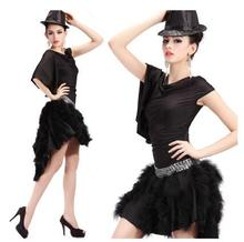Latin dance clothing new fashion charm Slim fold beads hand-fringed skirt set dance clothes square dance clothing game
