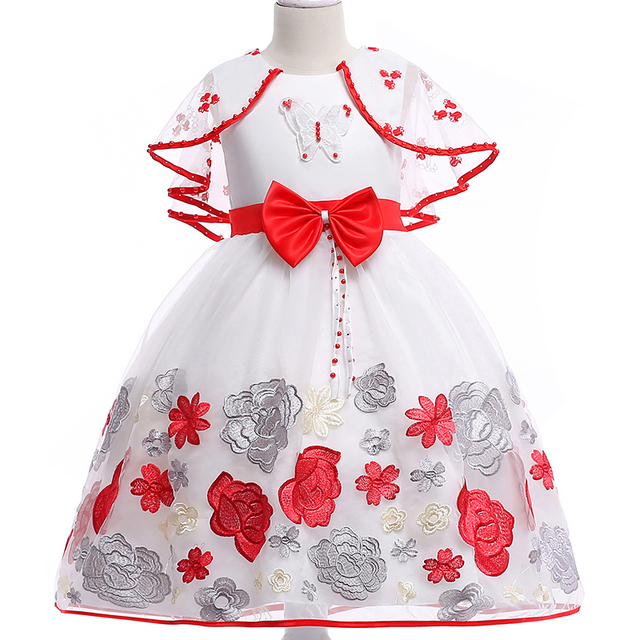 75f73e2381 2017 Petal hem Girls Wedding Dress infantil Fancy princess dress girl for girls  clothes tutu dresses ...