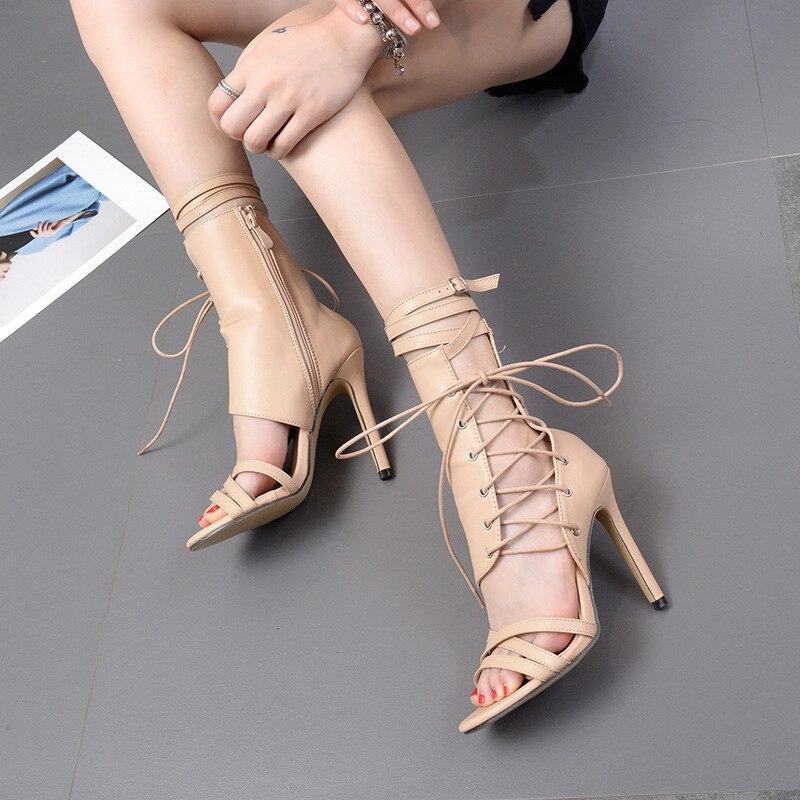 Women's Pumps Sexy High Heels Ladies Shoes Open Toe Party wedding Shoes Woman Thin Heels Summer Sandals 8820W Karachi