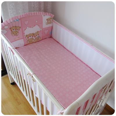 Promoção! 5 pcs urso baby bedding set berço bumper set confortável crib bedding set, inclui :( bumper + ficha)
