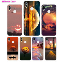 Silicone Case Sunset and Sunrise for Huawei P Smart 2019 Plus P30 P20 P10 P9 P8 Lite Mate 20 10 Pro Lite Nova 3i Cover цены