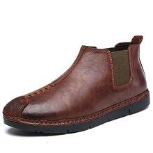 2016 новый Ручной мужская повседневная бизнес обувь Ходить Вентиляции лодыжки обувь Мода рабочая обувь открытый водонепроницаемый плоские приводные обувь