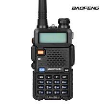 BaoFeng UV-5R Walkie Talkie UHF VHF Dual Band UV5R CB radyo 128CH VOX El Feneri Avcılık için Çift Ekran FM Verici radyo