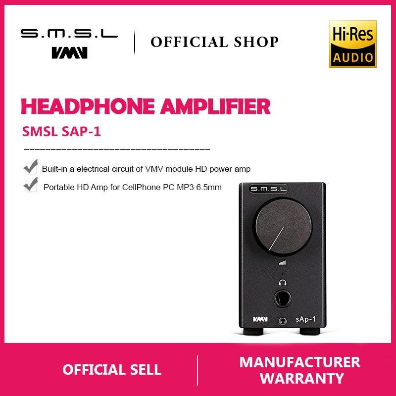 SMSL SAP-1 Mini Tragbare Desktop Kopfhörer Verstärker 110 v/220 v PC MP3 6,5mm Ausgang Interface mit 6,5mm zu 3,5mm Interface