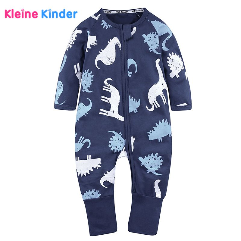 Ins Oshkosh Trending Baby Rompers 2018 Dinosaur Printed Overall Cotton Romper Outfits for newborn Baby girls boys Kids Clothes baby dinosaur romper