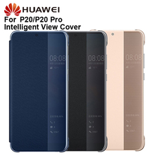 Original Huawei Smart View Cover Leather Protection Cover Phone Case For P20 P20 Pro Flip Case Housing Sleeps Function Case
