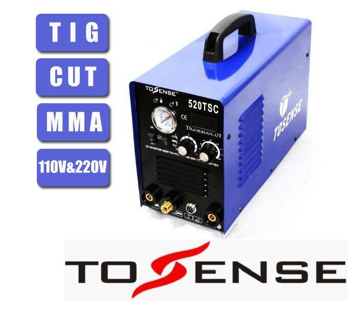 TSC520 Multifunzione Saldatrice TIG MMA CUT 110 v 220 v Trasporto Libero 3 in 1 Saldatrice Inverter