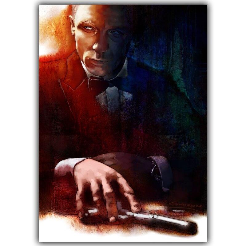 Individuell Bedruckte Seide James Bond Quantum Trost Poster Bar Cafe Home Kunsthandwerk Dy167China