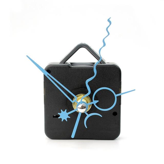 Black Quartz Wall Clock Movement Mechanism Repair DIY Tool Kit Blue Hands Arrows Silent New