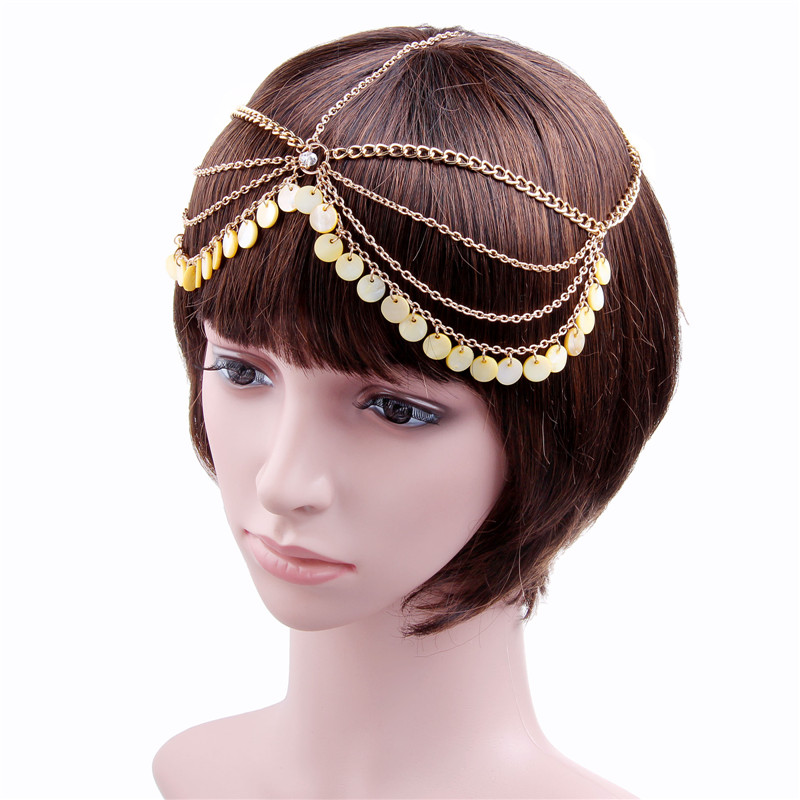 Shell Pendant Wedding Hair Accessories Multilayer bijoux cheveux Wedding Jewelry Shell Headband New Shell Pendant bijoux de tete