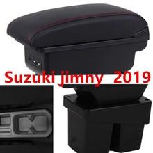 Для Suzuki jimny подлокотник коробка зарядка через usb увеличивает двухслойный центральный магазин содержание держатель стакана, пепельница аксессуары