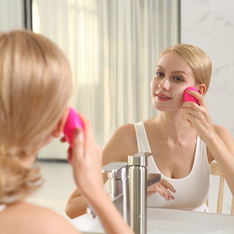 REINO CUIDADOS de Limpieza Facial Cepillo de dientes Sónico Vibración Mini Limpiador Facial Limpieza Profunda de Los Poros Masaje Eléctrico a prueba de agua de Silicona
