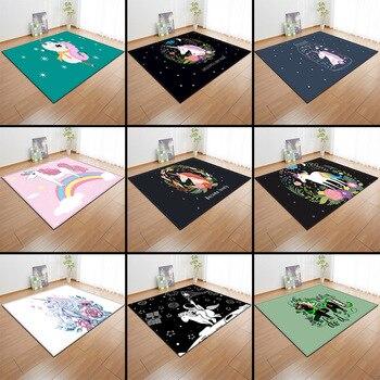 Cartoon Rainbow Unicorn Carpets