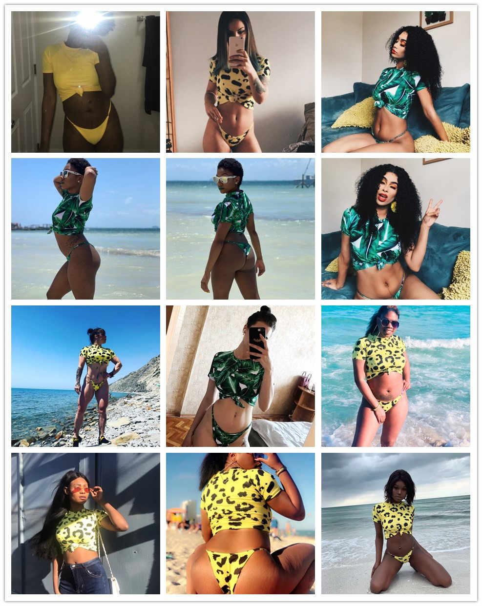 KGFIGU dwuczęściowy zestaw 2019 letnie ubrania dla kobiet leapard nadruk węża stringi zestawy z krótkimi spodenkami sexy beach style pasujące zestawy festiwal