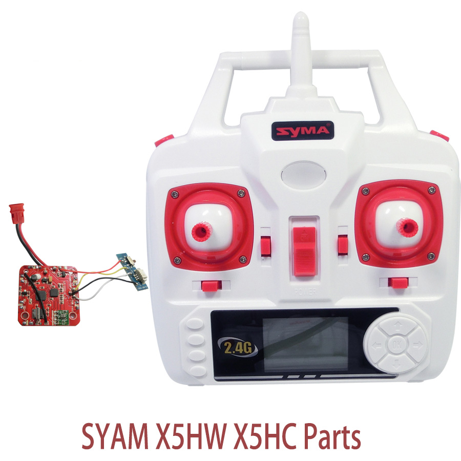 Syma X5HW X5HC Set High Mode PCB Board Receiver And Transmitter Remote Controller Spare Parts For X5HW RC Helicopters Drone пена д бритья dockland menthol 200мл
