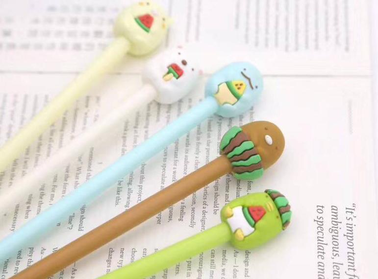 3 pcs/lot Sumikko Gurashi Gel Ink Pen Promotional Gift Stationery School & Office Supply
