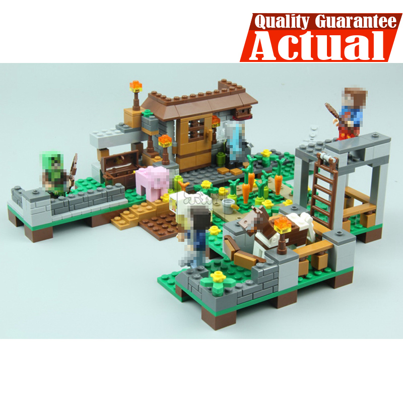 LEPIN 18014 Cube World Minecraft My World Building Blocks Bricks Toys Educational For Children brinquedos 4pcs/lot legoINGly lepin 18010 my world 1106pcs compatible building block my village bricks diy enlighten brinquedos birthday gift toys kids 21128