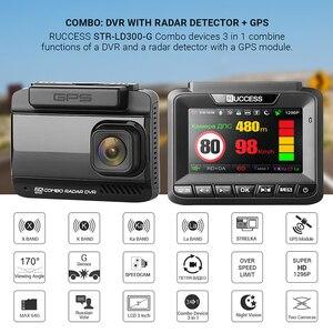 Image 2 - Ruccess DVR Xe Ô Tô 3 Trong 1 Đầu Ghi Cảm Radar GPS Full HD 1080P Camera Kép Tự Động Ghi Hình 1296P Nga Tầm Nhìn Ban Đêm WDR ADAS