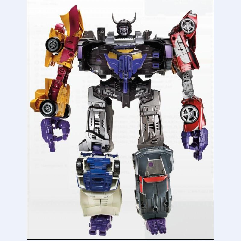6pcs/set Make Up to Menasor Car Action Figure Classic Toys For Boys Collection Without Retail Box smilodon tiger lion polar bear cheetah eagle classic toys for boys ferocious beast movable animal small size without box