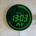 Украшение для дома большой декоративный круглый стол часы Красный Зеленый 3d креативный Круглый Большой светодиодный цифровые настенные ча...