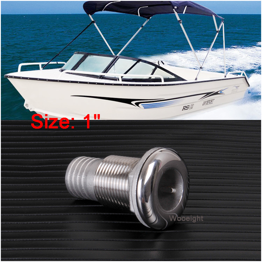 Stainless Steel Polished Marine Boat 3//4/'/' Thru Hull Fitting Connector