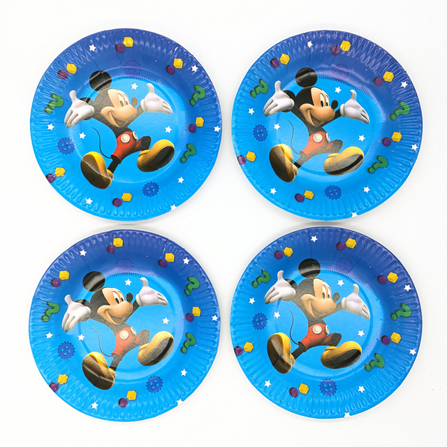10pcs 7inch Mickey Mouse Plates Cartoon Disposable Paper Plates Kid Boy Girl Birthday Party supplies  sc 1 st  AliExpress.com & 10pcs 7inch Mickey Mouse Plates Cartoon Disposable Paper Plates Kid ...
