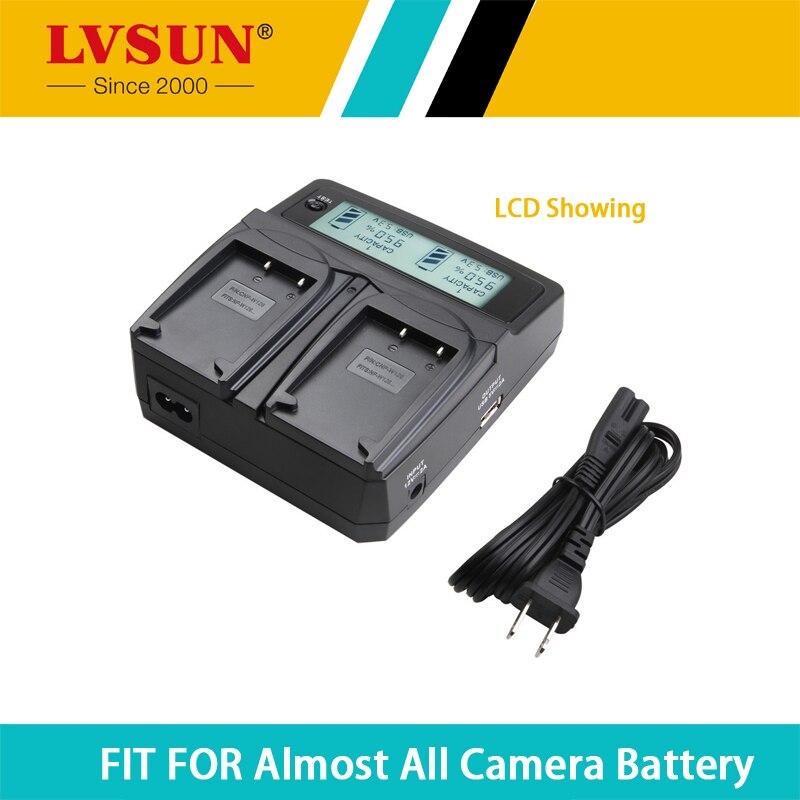 LVSUN NP-BY1 NP BY1 Caméra Batterie Chargeur avec Adaptateur De Voiture ÉCRAN LCD pour Canon SONY HDR-AZ1 HDR-AZ1VR HDR-AZ1VB HDR-AZ1VW