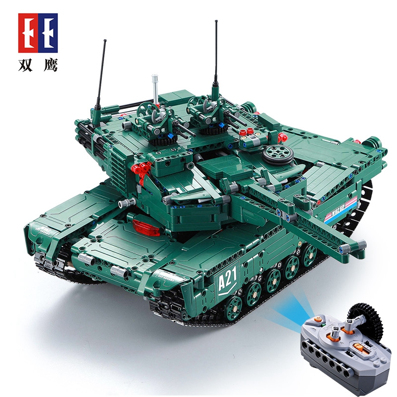 61001 1498Pcs Military Weapon Series The M1A2 RC Tank Model Building Blocks Bricks Educational Toys For children Christmas Gifts