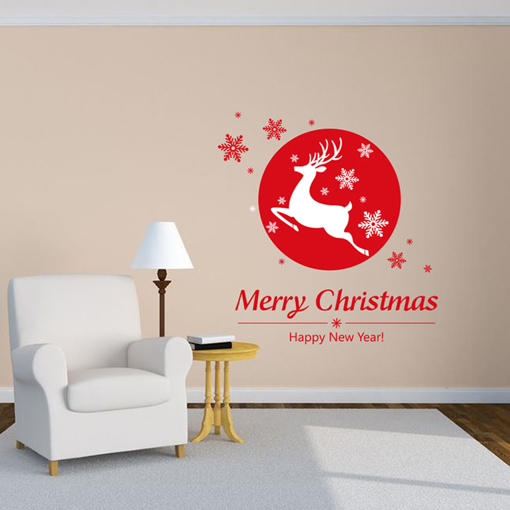 Christmas Shop Window Sticker Glass Decorative Wall