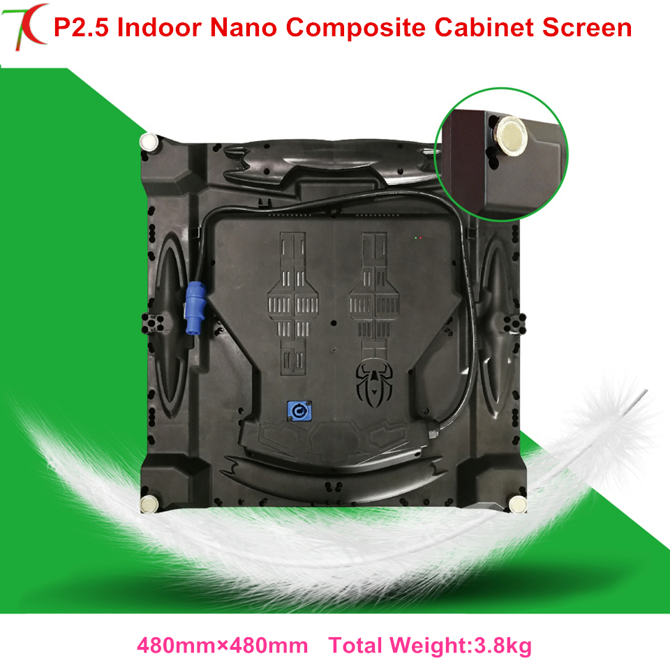 Super Light P2.5 Nano Composite Cabinet Screen Use For Rental  Or Fix Installation Led Display,