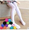 Primavera/otoño niños del color del caramelo medias para niñas bebés niños lindo velvet panti medias medias para niñas mallas de baile