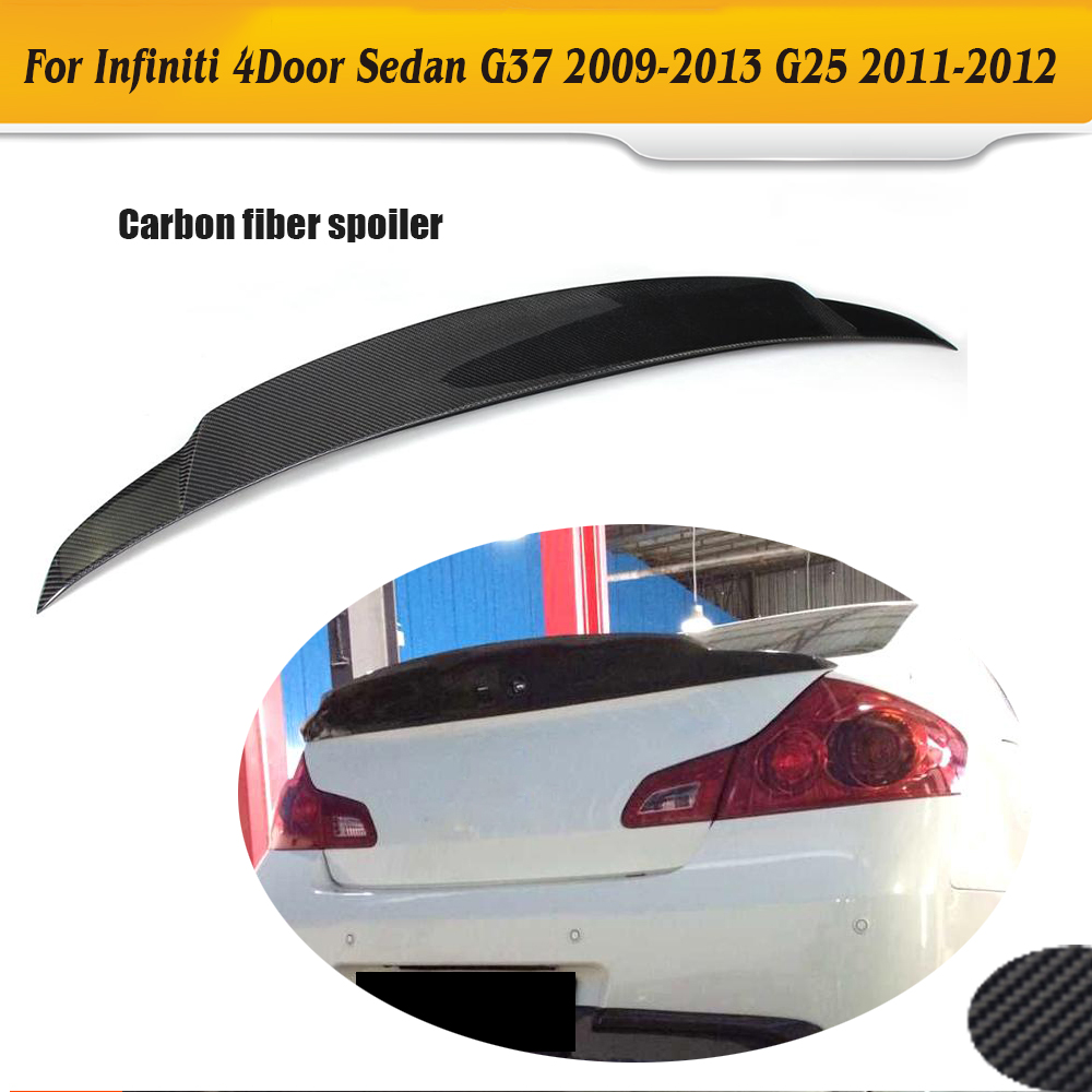 High quality Carbon Fiber G37 JC styling car rear spoiler for infiniti,auto trunk wing G37(fit 4 door 2009-2013)