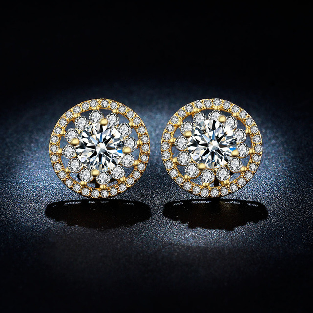 earrings accesso wedding photo engagement jewellery jewelry fashion accessories diamond round p stud silver women sterling men for