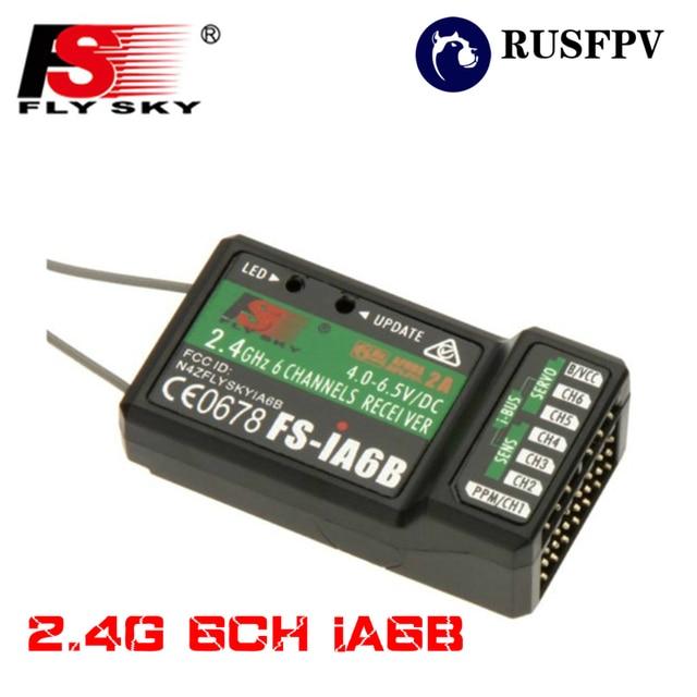 FLYSKY iA6B 2,4G 6CH salida PPM con iBus Puerto receptor para FLYSKY FS-i6 FS-i10 avión, helicóptero FPV que compite con el zángano transmisor