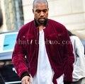 Yeezy temporada HAIDER hombre ropa 2015 de terciopelo ropa para hombre del diseñador chaquetas de invierno y abrigos de corea del big bang chaqueta al oeste del kanye