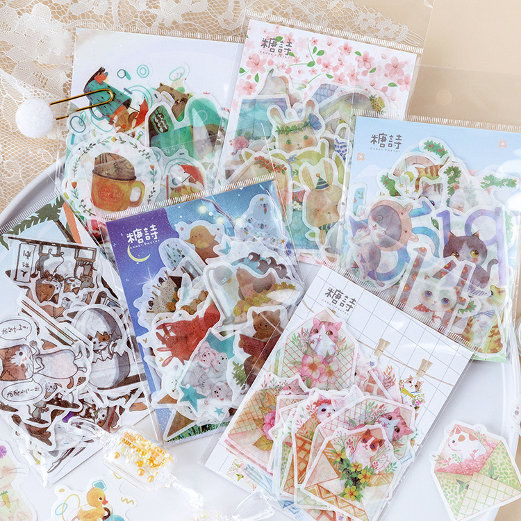 Mohamm Summer Concerto Series Kawaii Cute Sticker Custom Stickers Diary Stationary Flakes Scrapbook DIY Decorative Stickers